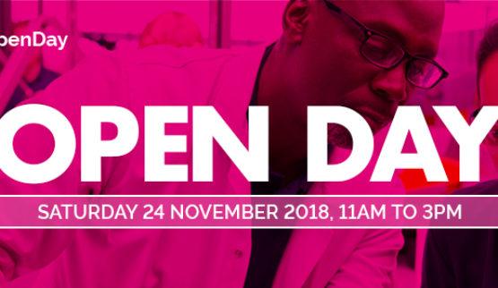 Open Day 24 November 2018 - Register now