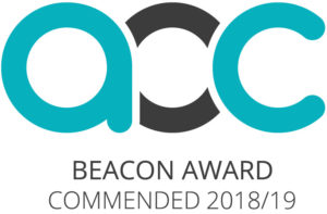 image of the A-O-C Beacon Commended logo