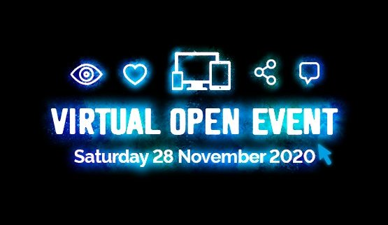 LIVE! Virtual Open Event 28 November 2020